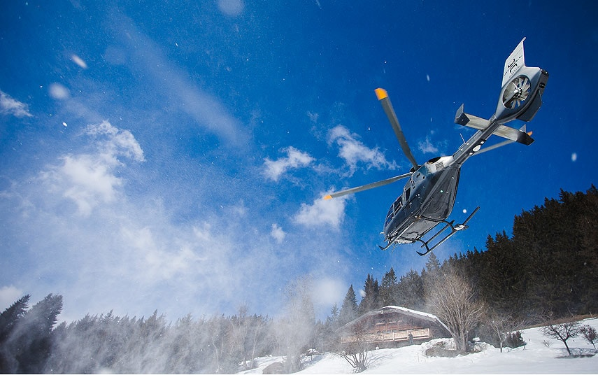 Luxury Ski Chalet with Helicopter