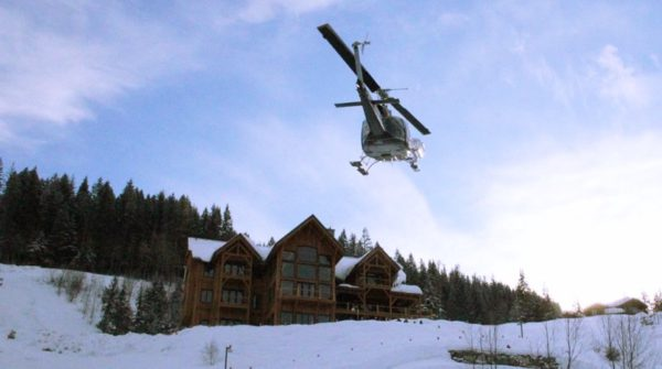 Ski Chalet from Helicopter Luxury Chalet_Fotor-min