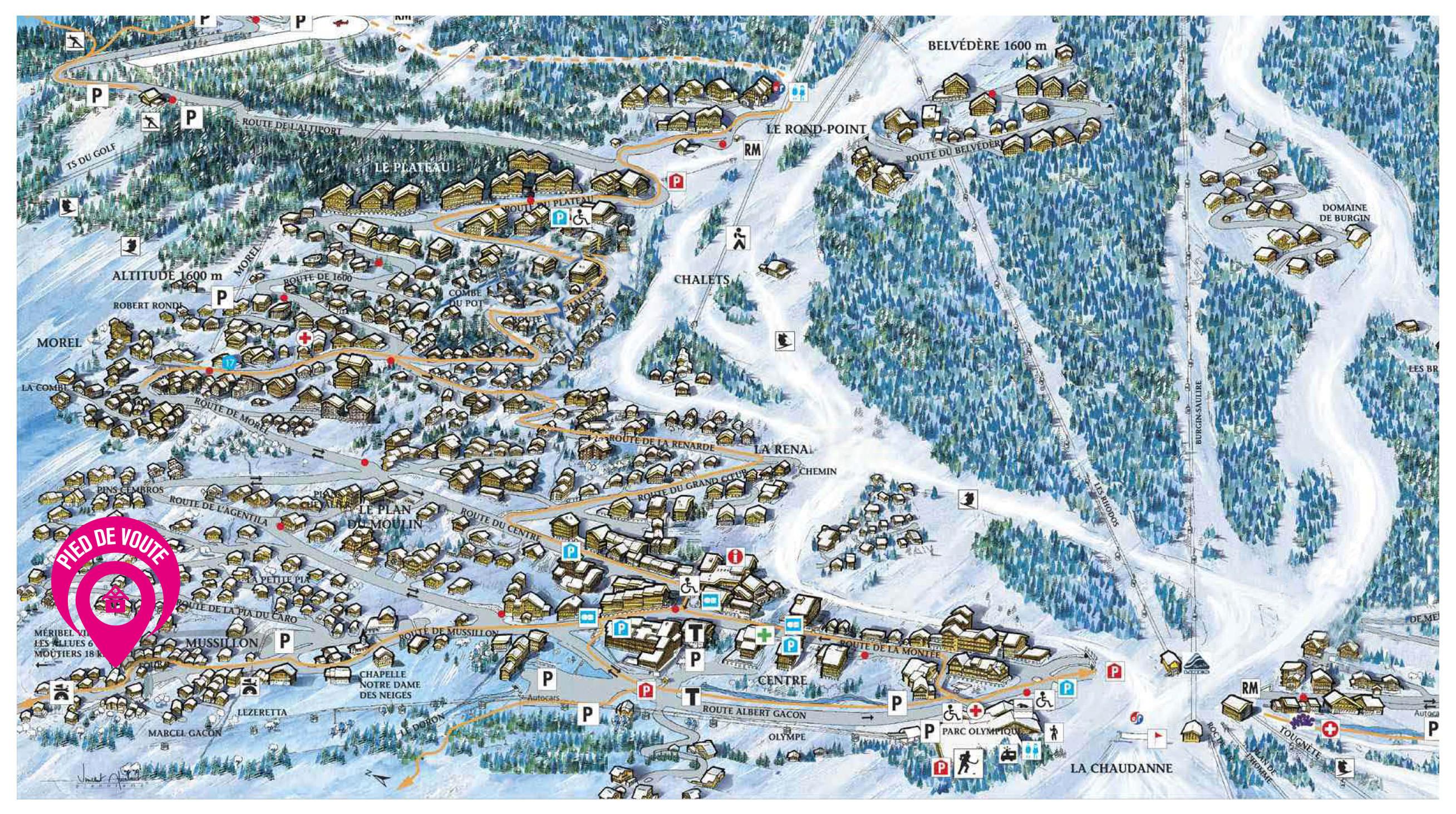 Map of Chalet Pied de Voute
