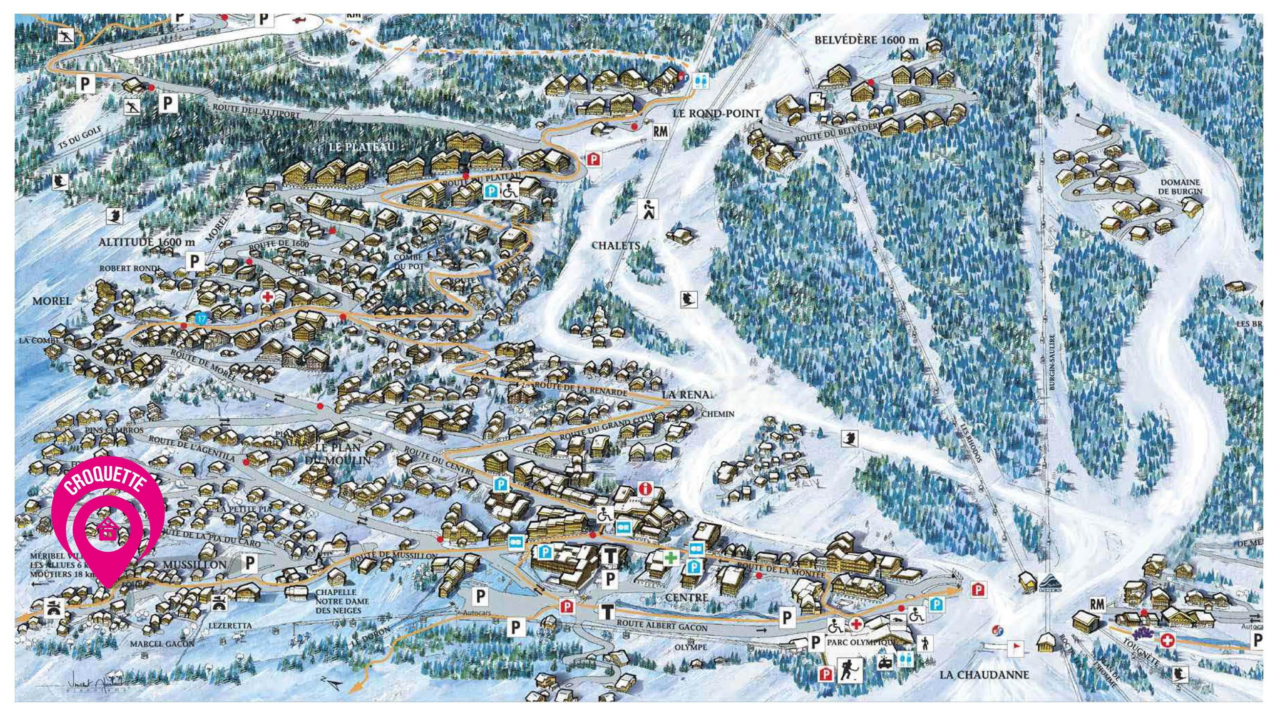 Map of Chalet Croquette