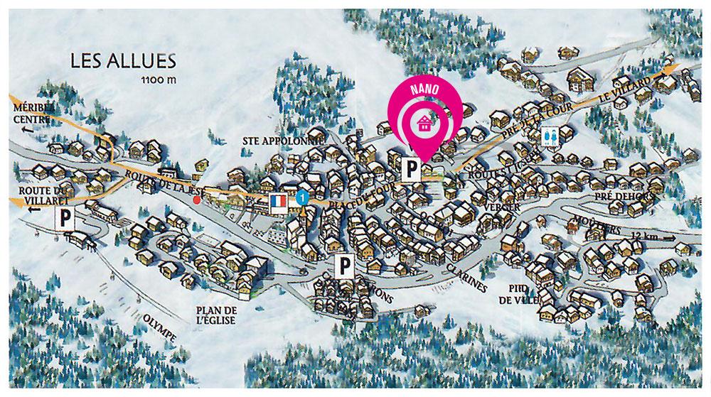 map to chalet nano