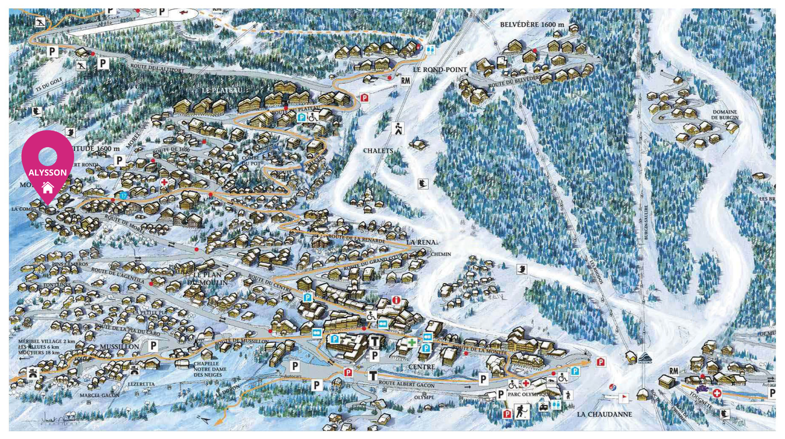 Map of Chalet Alysson