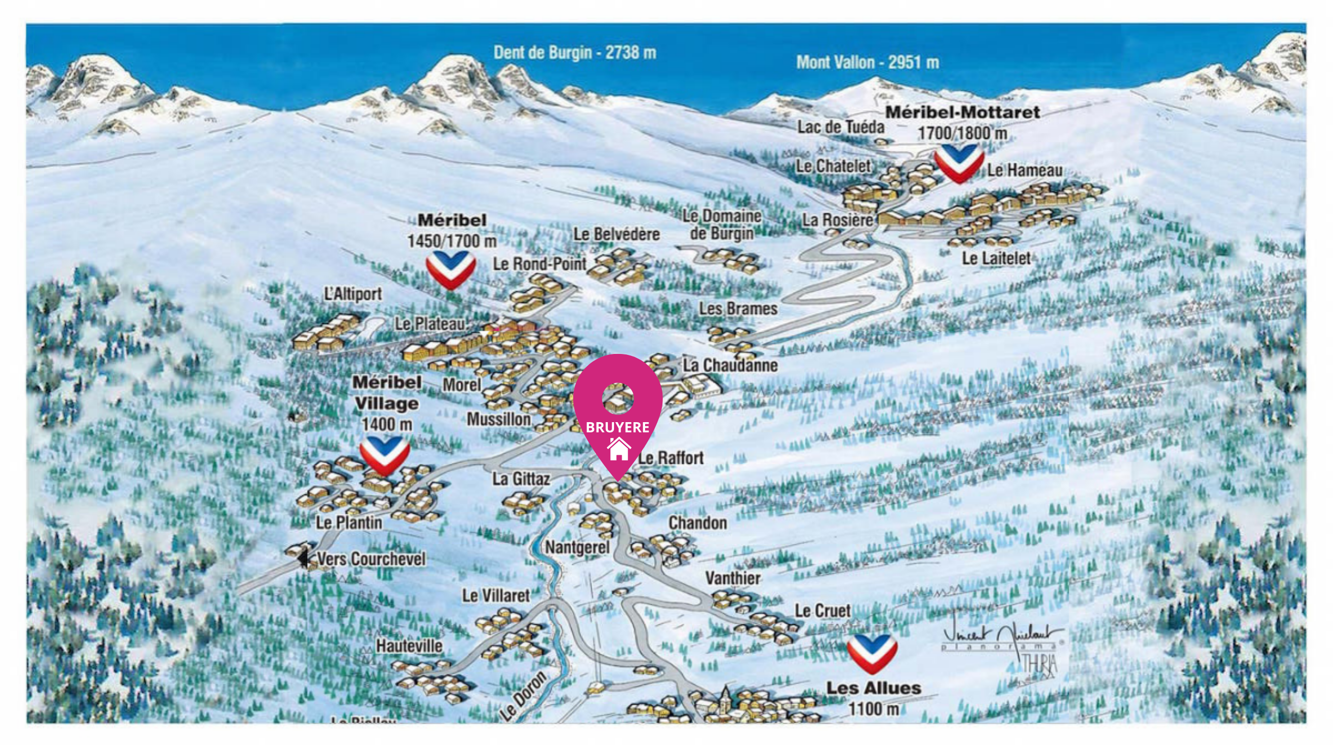 Map of Chalet Bruyere