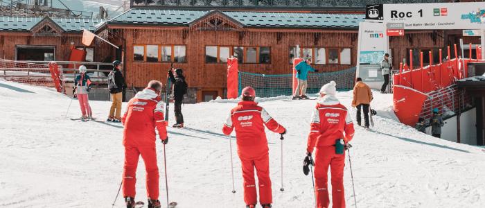 ESF ski instructors in meribel