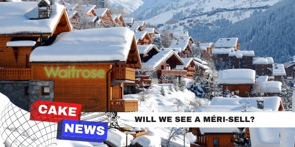 Meribel chalet image with banner that reads 'will we see a Meri-sell?'