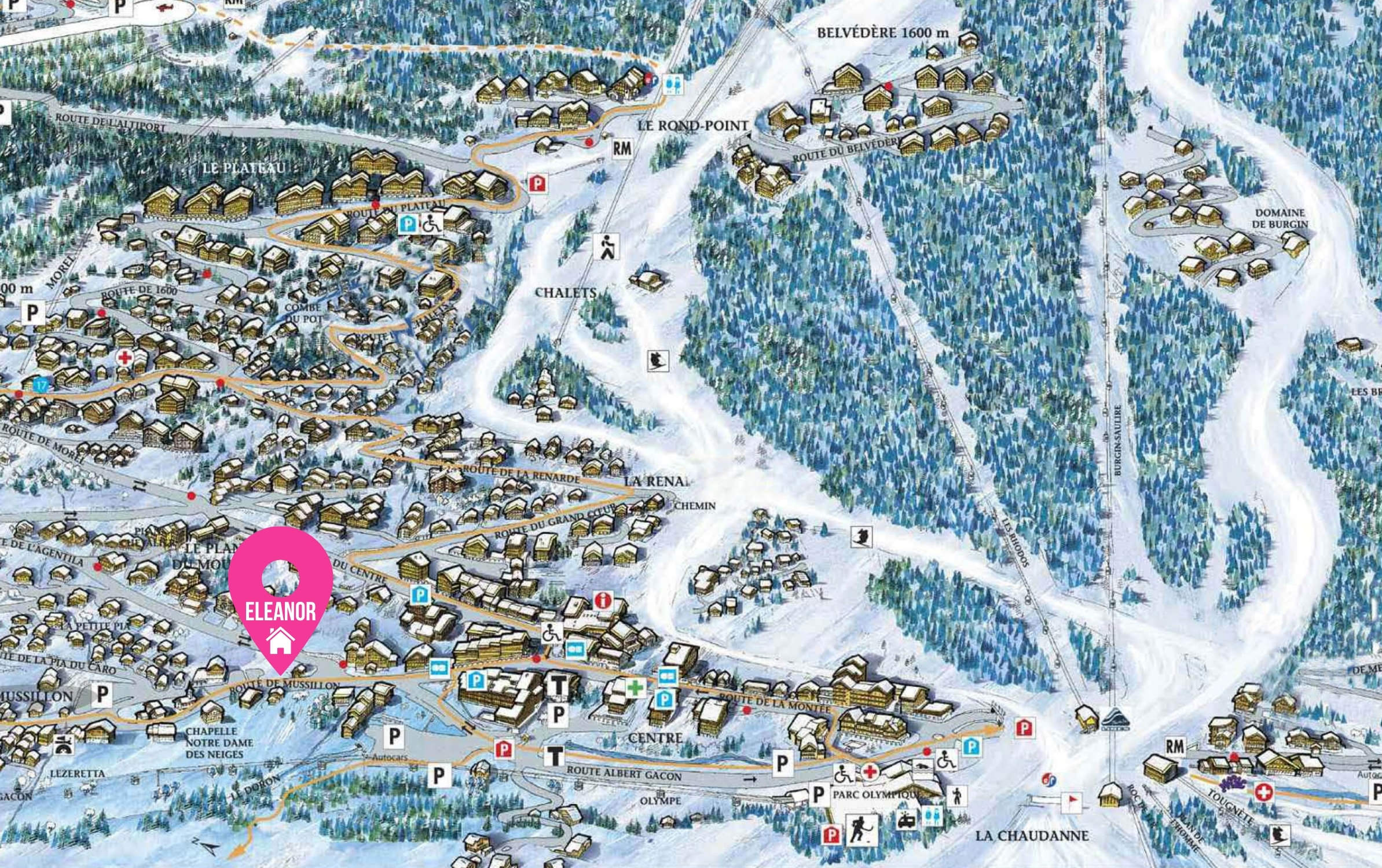 Map of Chalet Eleanor