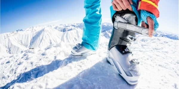 wearing in new ski boots