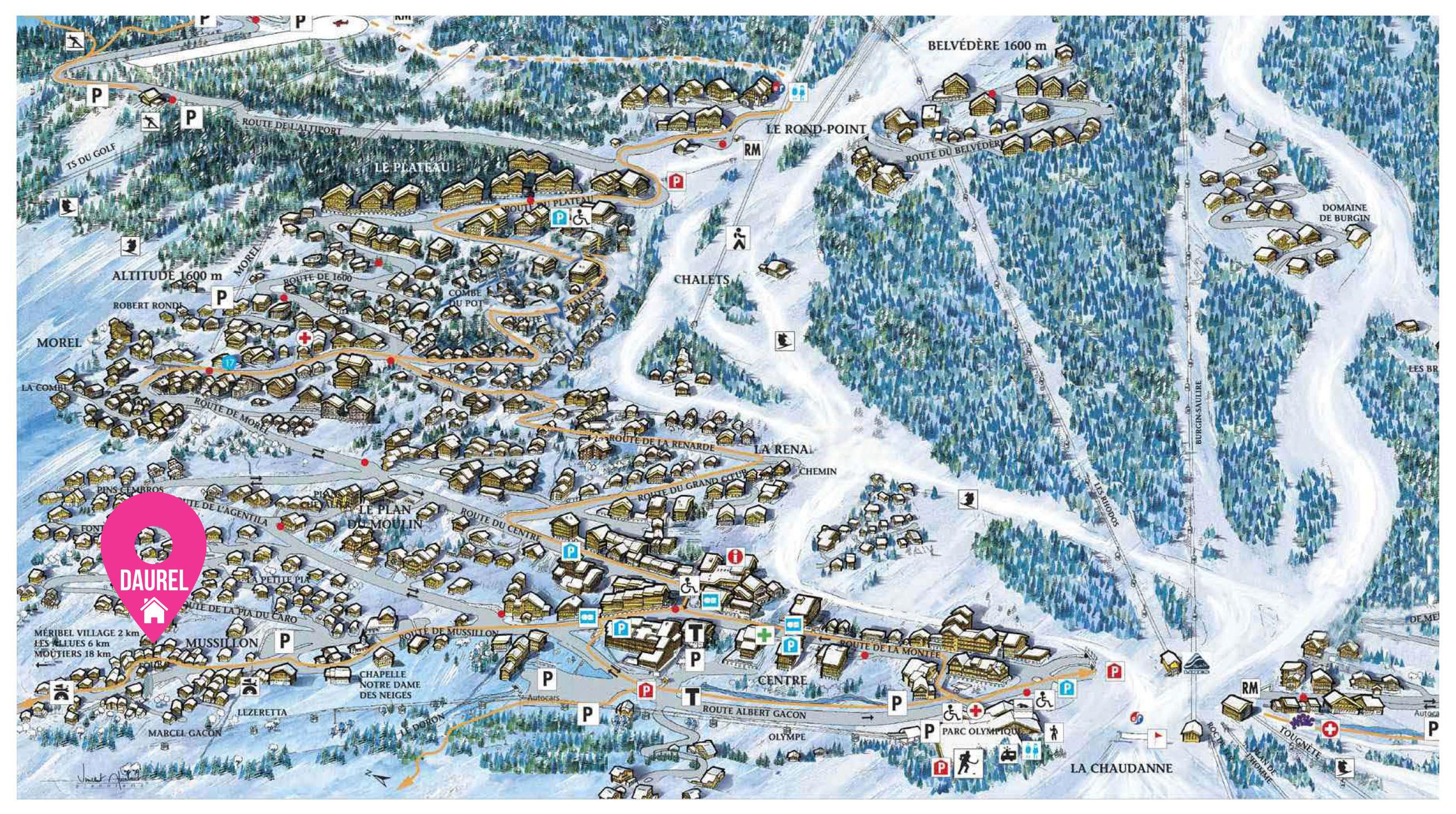 Map of Chalet Daurel