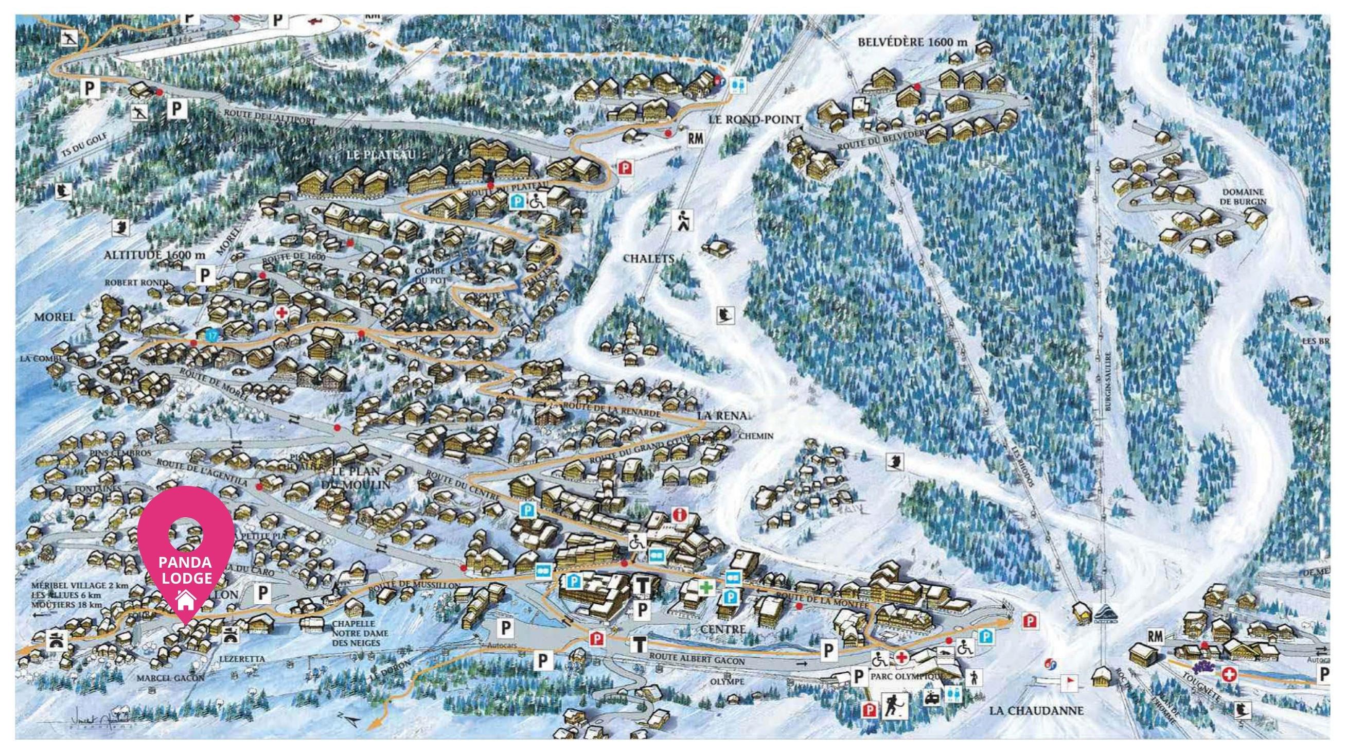 Map of Panda Lodge