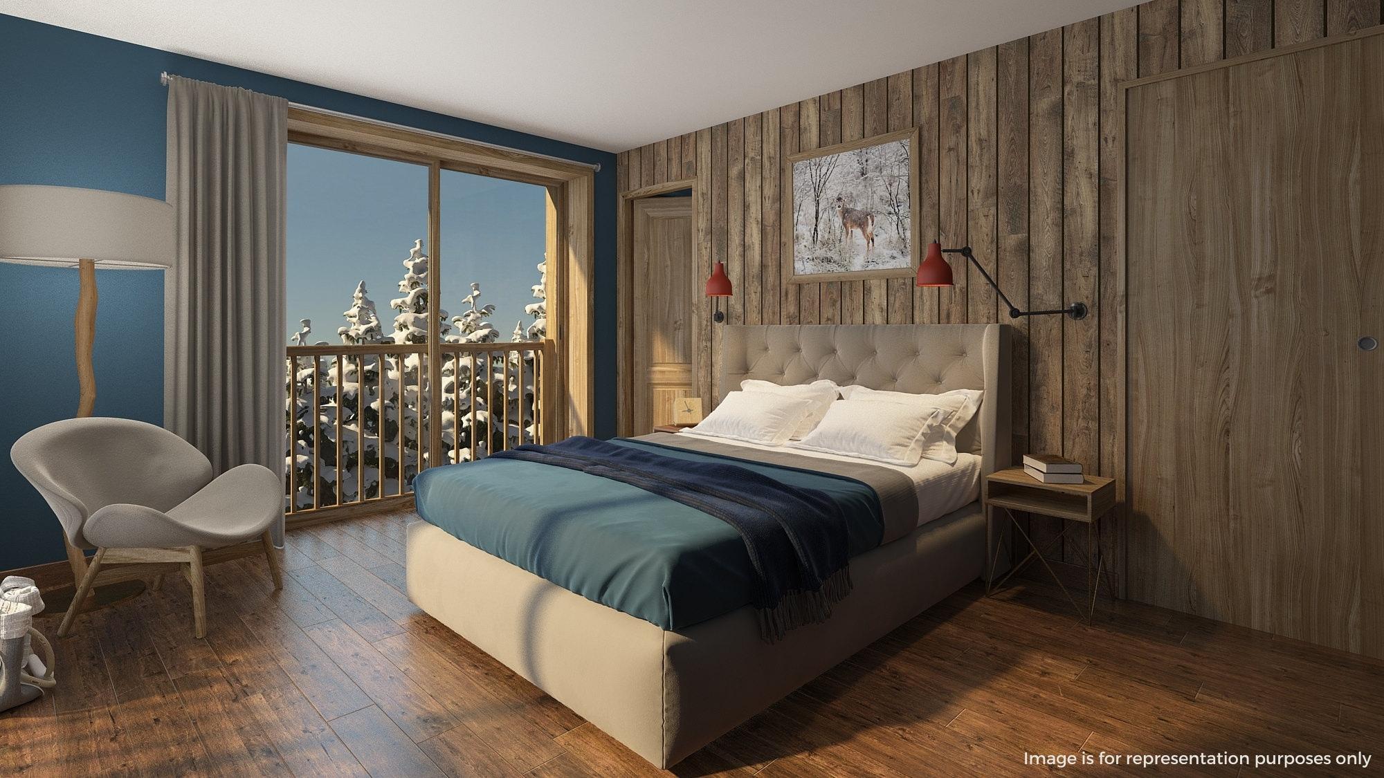 chalet panda lodge bedroom 1
