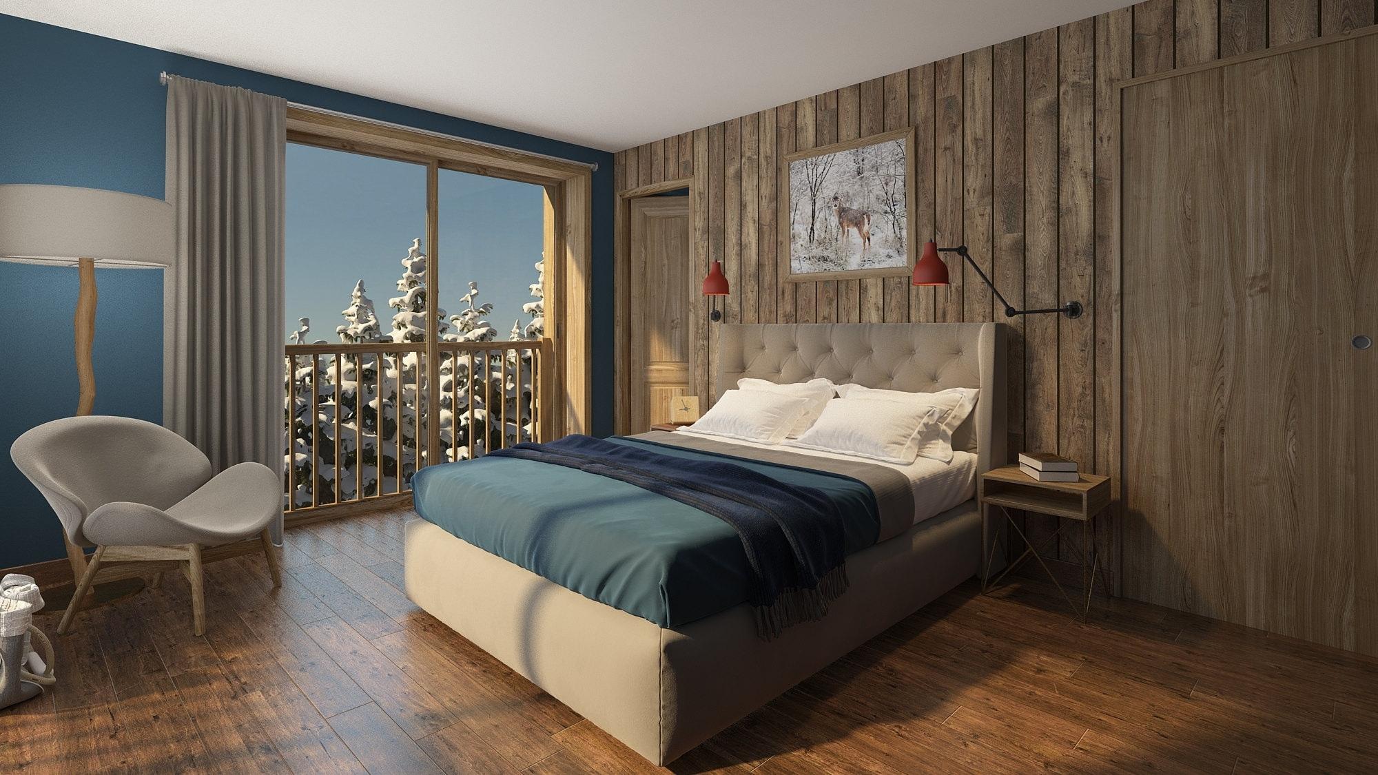 chalet panda lodge bedroom1