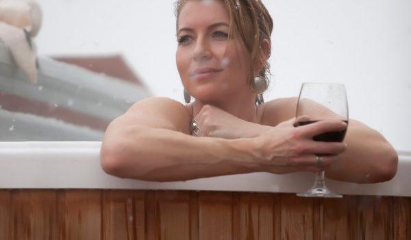 chalet hot tub in meribel