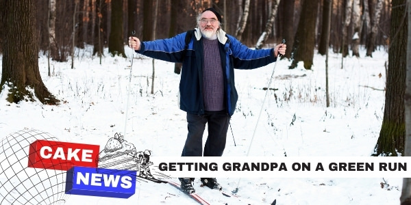 funny grandpa skiing