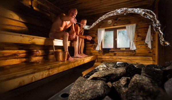 sauna in a chalet in meribel